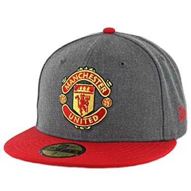 Amazon.com  New Era 5950 Manchester United Fitted Hat (Heather ... efd4364d340