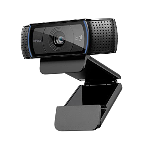 Logitech C920 HD Pro Cámara Web videoconferencias y grabaciones de vídeo Full HD 1080p con dos micrófonos estéreo Negro