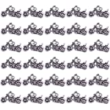 PH PandaHall 50pcs Antique Silver Motorbike Tibetan Alloy Charms Pendants Motorcycle Beads Charms for Valentines Day Thanksgi