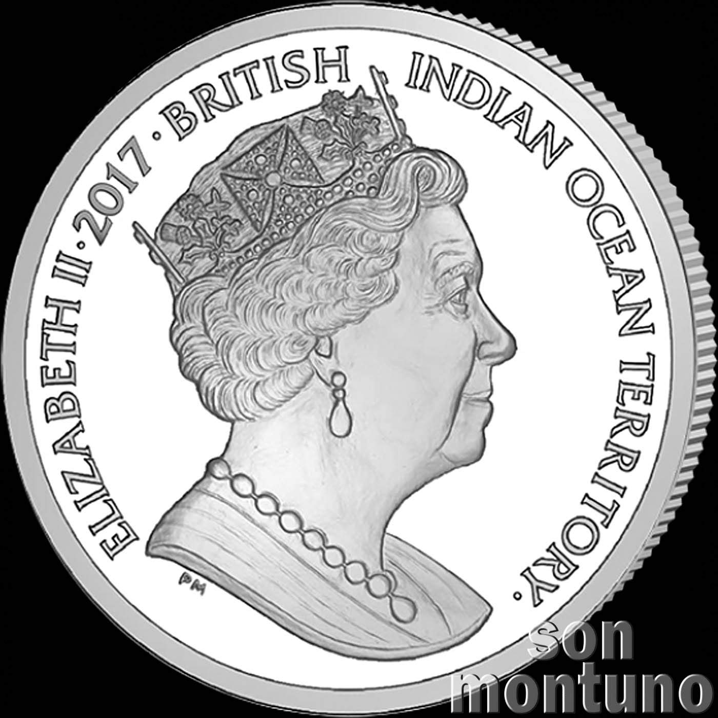 Limited Mintage of Only 10,000 Pieces 2017 British Indian Ocean Territory /£2 Uncirculated Cupro Nickel Coin GREEN SEA TURTLE