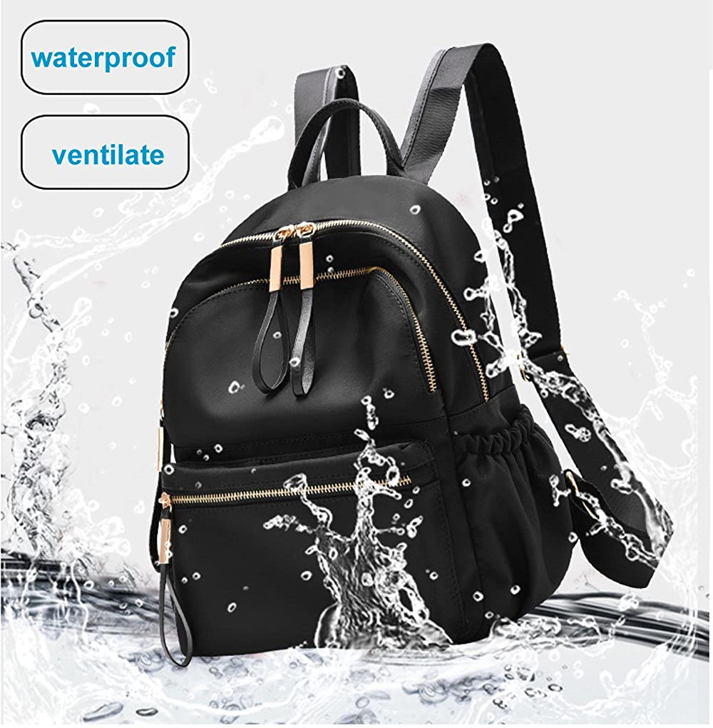 0166cc969818 Waterproof Oxford/PU Leather Small Backpack Purse for Women School Bag for  Girls