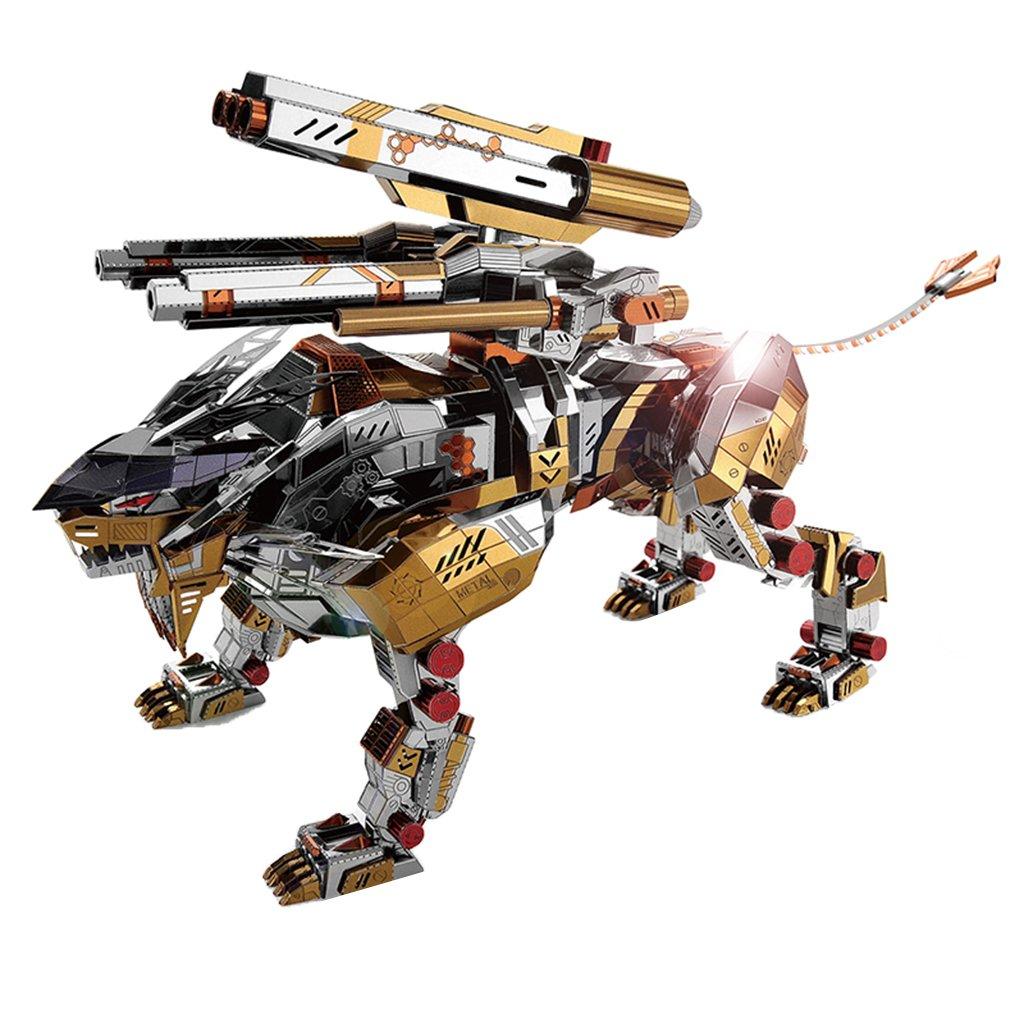 Homyl 323 Unids Juguete de Rompecabezas 3D Modelo de León Rugiente Mecánico de Metal Juego Intelectual para Niños