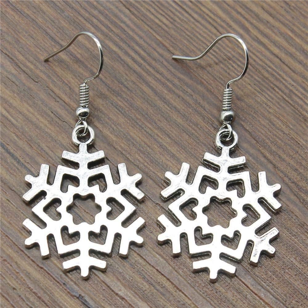 Taliyah 1 Pair Snowflake Drop Earrings Jewelry Earrings Findings with Earring Cap