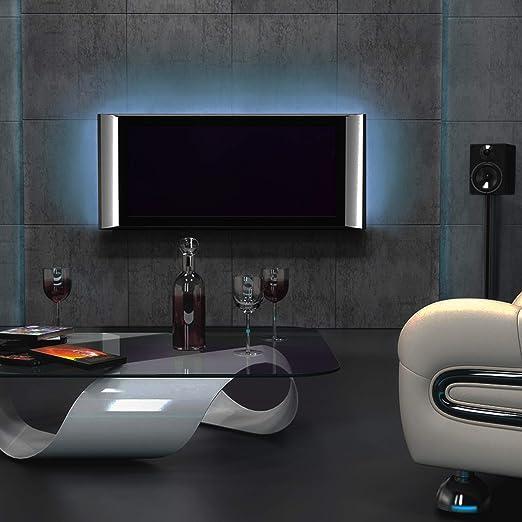 Tira LED para TV de 15,6-22 pulgadas, RGB 5050, 12 V, autoadhesiva, con mando a distancia, 16 colores y 4 efectos, retroiluminación LED, tira luminosa: Amazon.es: Iluminación