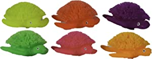 BarOwCo Set of Six 3.5 inch Light Up Stretchy Turtle Puffer Toys