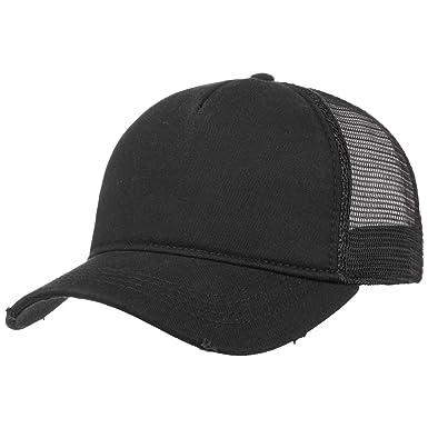 Rapper Destroyed Cap mesh cap base cap (One Size - black)  Amazon.co ... 4a6091aa1425