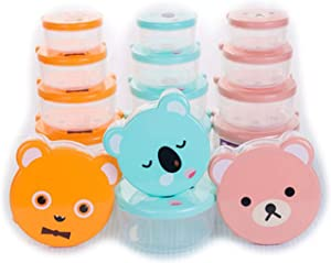 12- Piece Food Storage Containers - BPA Free Durable Plastic Snack Containers for Kids - Food Storage That is Microwave Safe and Easy to Clean