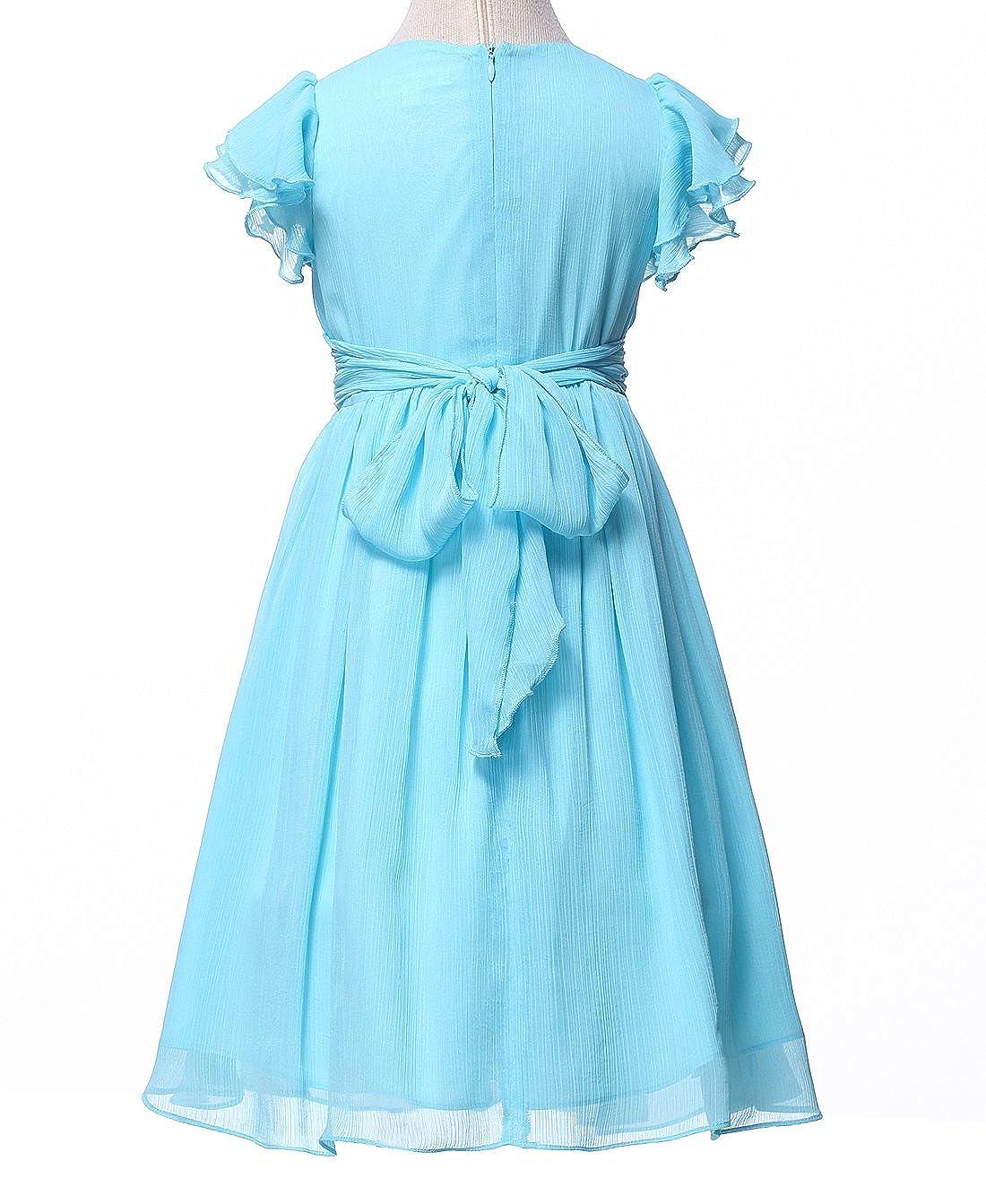 HAPPY ROSE Chiffon Prom Party Dresses Bridesmaid Dress Flower Girls Dress