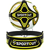 Sportout Soccer Kick Trainer, Soccer Training Aid Widened Side Waist Protection, Two-Way Adjustment of Belt Length, Perfect for Football Skills Improvement,Fit for Balls Size 3 4 5, Kids and Adults