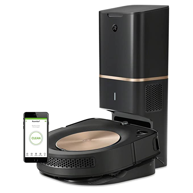 I Robot Roomba S9+ (9550) Robot Vacuum With Automatic Dirt Disposal  Wi Fi Connected, Smart Mapping, Powerful Suction, Anti Allergen System, Corners & Edges, Ideal For Pet Hair by I Robot