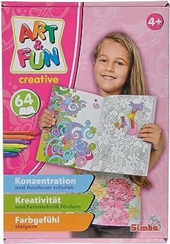 Simba 106334021 Livre de Coloriage Art & Fun Color Me Filles