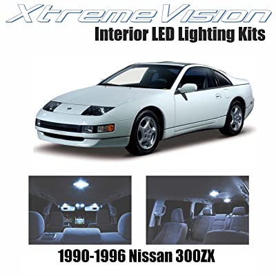XtremeVision Interior LED for Nissan 300ZX 1990-1996 (3 Pieces) Cool White Interior LED Kit + Installation Tool: Automotive [5Bkhe1407819]