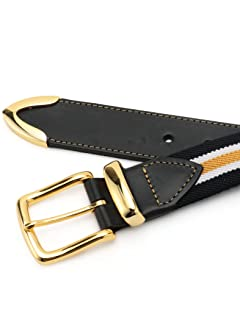 Bridle Leather Surcingle Belt 118-13-1129: Navy Regimental