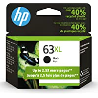 Original HP 63XL Black High-yield Ink Cartridge   Works with HP DeskJet 1112, 2130, 3630 Series; HP ENVY 4510, 4520…