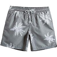 MaaMgic Men's Short Swim Trunks,Slim Fit Quick Dry Board Shorts with Mesh Lining