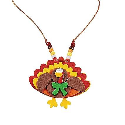 Amazon Com Beaded Turkey Necklace Craft Kit Crafts For Kids