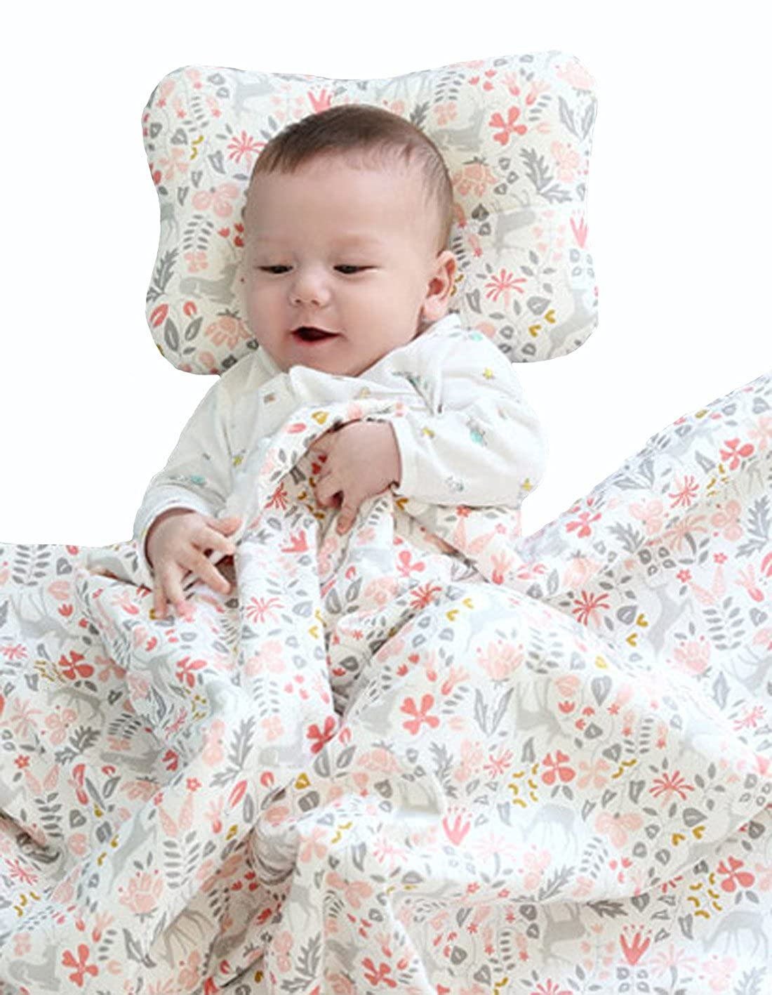 Blanket 31 x 40 W WelLifes Super Soft Baby Printed Organic Cotton Mink Blanket with Dotted Plush Velboa Fabric Backing