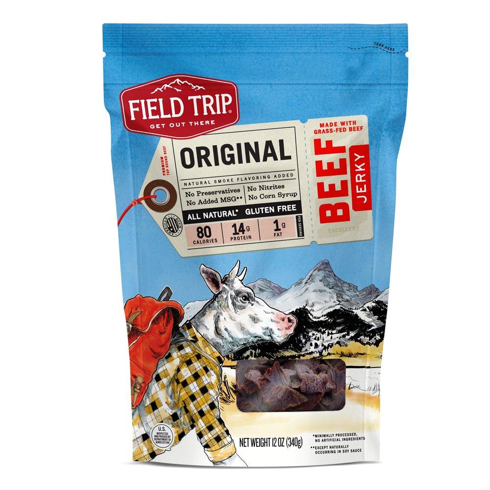 Field Trip All Natural Grass-Fed Beef Jerky, Original, 12 Ounce