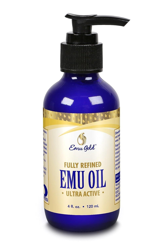 Emu Gold - Pure Grade Ultra Emu Oil, Fragrance Free (Btl-Glass) 4 Ounces