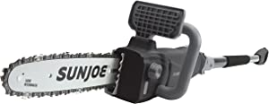 Sun Joe SWJ807E-BLK 10 inch 8.0 Amp Electric Convertible Pole Chain Saw, Black