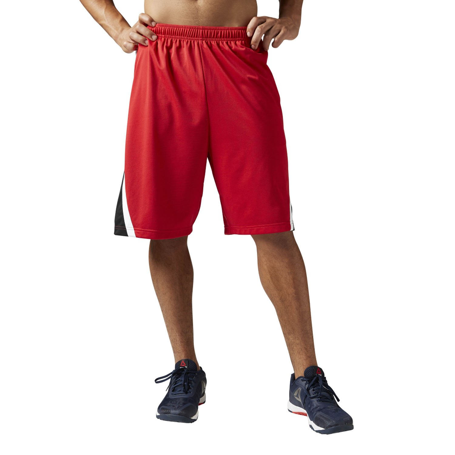Sobrevivir mostrar revolución  Buy Reebok Men's Basketball Shorts, Red, X-Large Online at Low Prices in  India - Amazon.in