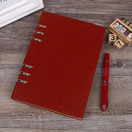 Cuaderno/agenda de la regla A5 - anillo de bolígrafo de ...