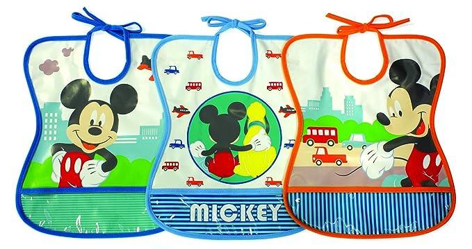 Tomy Mickey Mouse vinilo a prueba de agua babero 6 Meses + (Pack ...