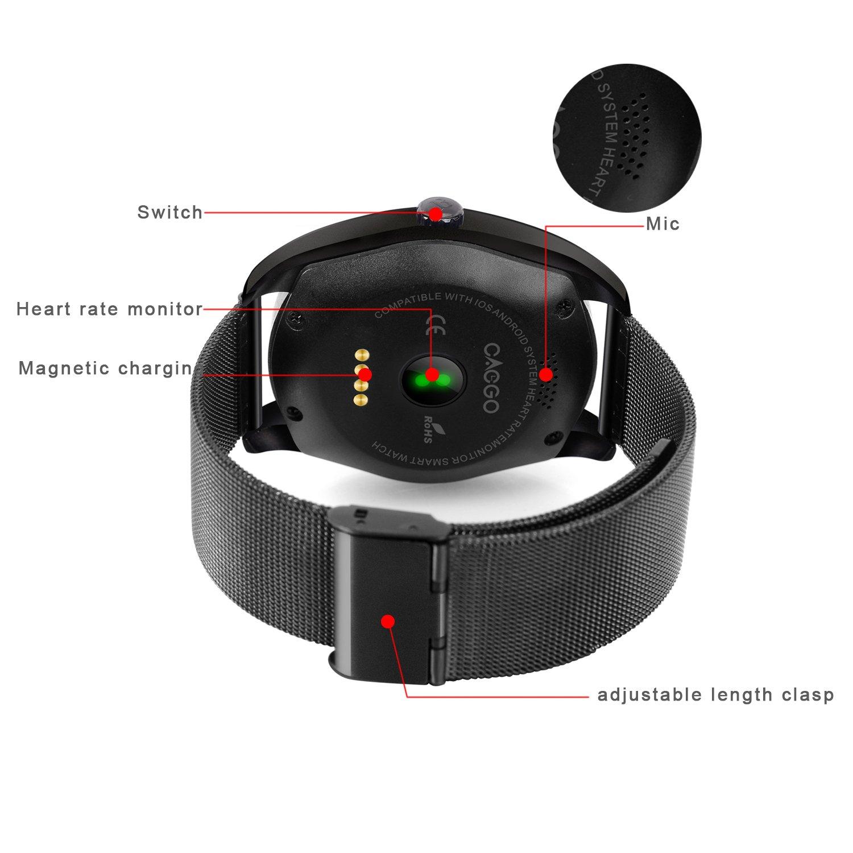 rgtopone Fitness Tracker GPS Trayectoria mapa/remoto música ...