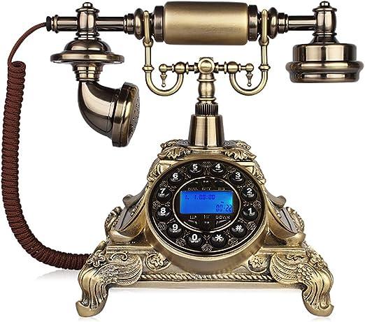 Proporcionar un teléfono de casa, Teléfono Retro Teléfono Antiguo Teléfono Fijo Europeo De La Casa Fija Teléfono Fijo Inalámbrico De La Familia Con Teléfono Fijo (Línea Telefónica) Línea fija europea,: Amazon.es: Hogar
