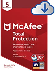 McAfee | Total Protection | 5 Dispositivo | 9 Mesi | PC/Mac | Codice d'attivazione via email