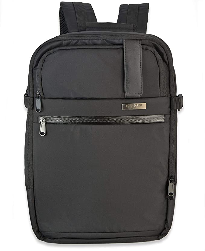 Getaway Expandable Carry-On Backpack Suitcase (Black)