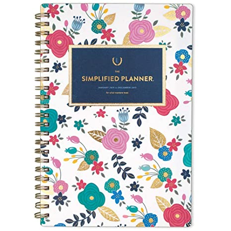 graphic relating to Simplified Planner named Emily Ley 2019 Weekly Regular monthly Planner, The Simplified Planner, 5\