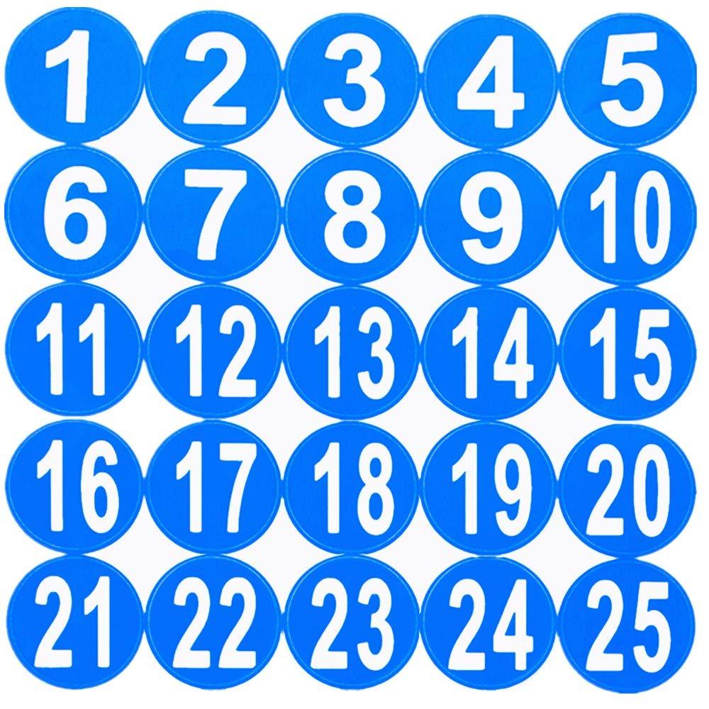 Aspire 5 Packs 2 Pegatina redonda del n/úmero 1-40 Etiqueta autoadhesiva impermeable numerada secuencialmente del palillo del c/írculo Blue