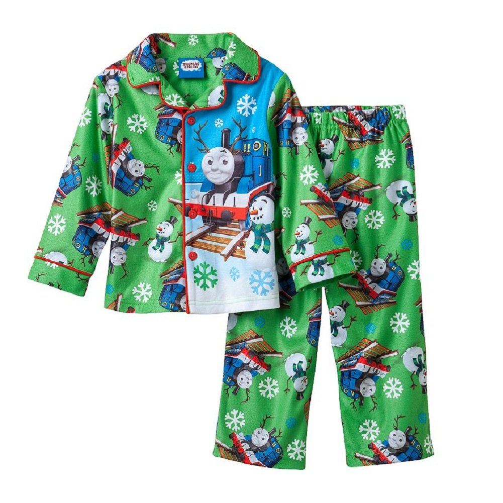 Thomas and Friends Little Boys Toddler Winter Coat Pajamas (3T)