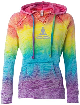 Amazon.com: Sudadera con capucha en V para yoga, diseño de ...