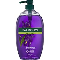 Palmolive Naturals Anti-Stress Body Wash With Ylang Ylang and Iris 0% Parabens Recyclable, 1L