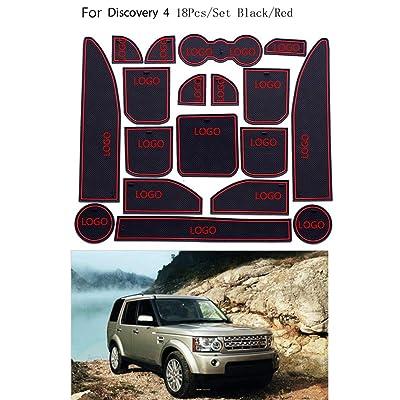 18pcs / Set Porte Fente Mat Porte intérieure Groove Pad Coupe Aucun Slip Coussin de Remplacement pour Land Rover Discovery 4 High-tech
