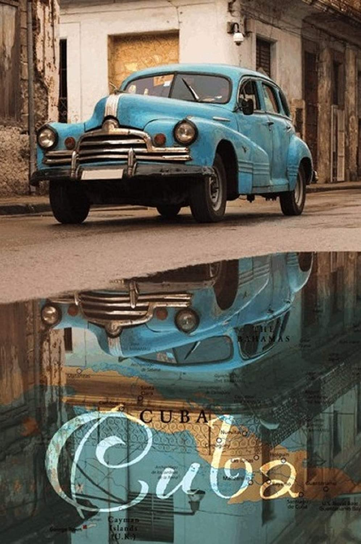 BlechschilderWelt Buddel-Bini Versand Cartel Decorativo dise/ño de Coche de Cuba Havana Metal
