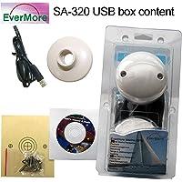 Evermore SA-320 USB Marine GPS Recepteur avec USB Interface pour navigation dans bateau, bateau à voiles, canot automobile. Longitude Cable 6 Metres