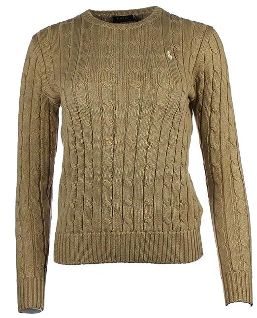 Ralph Lauren - Jersey de Punto para Mujer, Cuello en V, algodón ...