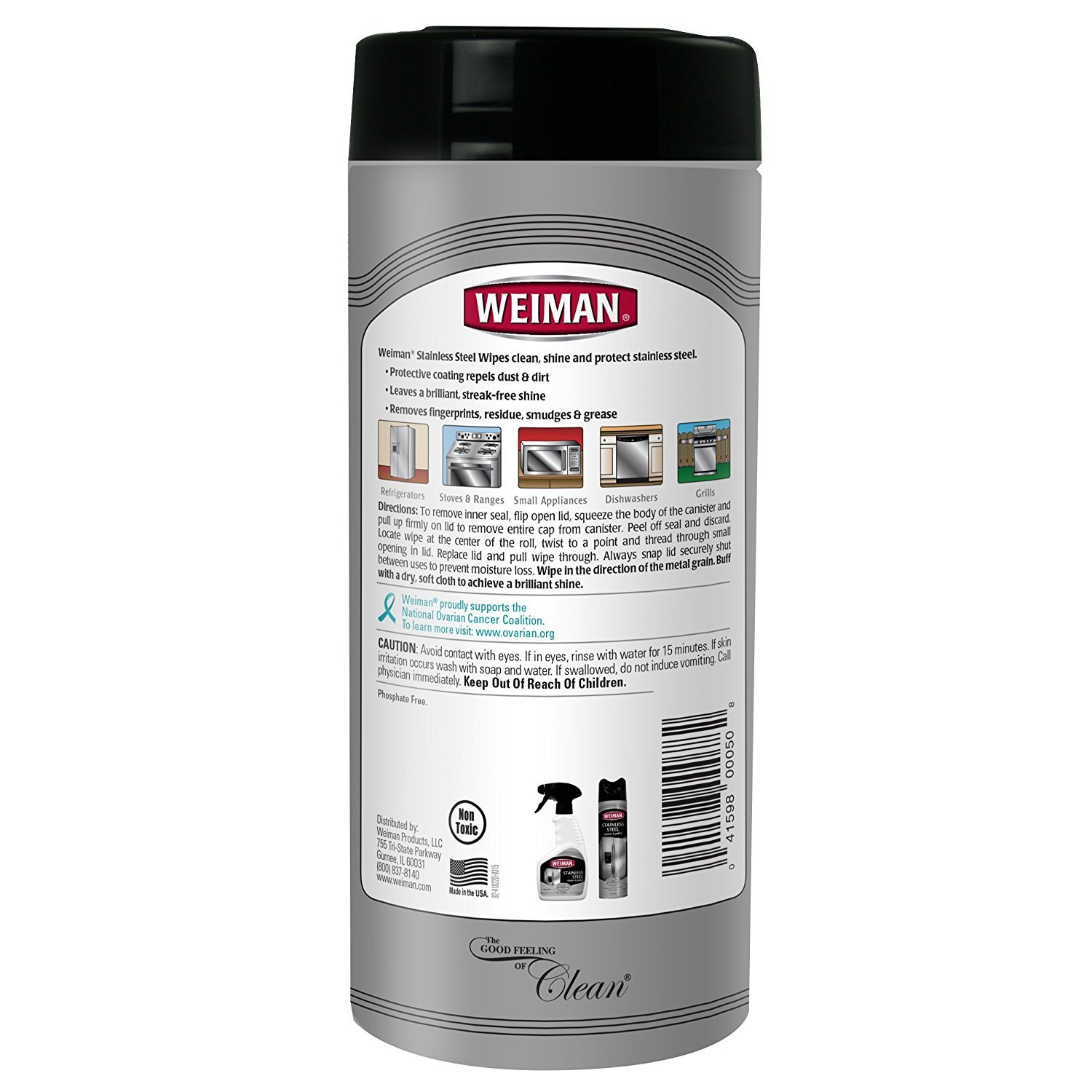 Amazoncom Weiman Stainless Steel Wipes And Granite Wipes (30 Count