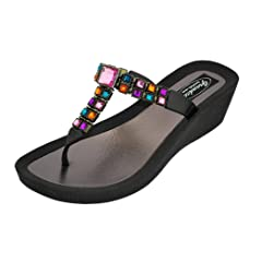 c08983ff6 Grandco Womens Brilliance Wedge Thong Sandals - Casual Women s Shoes