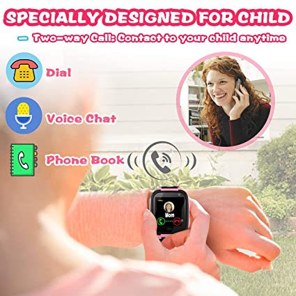 ... Smartwatch for Girls Boys with Mobile Phone SOS Anti-lost Camera Game Touch Screen Children Outdoor Digital Wrist Watch Bracelet Holiday Birthday Gift: ...