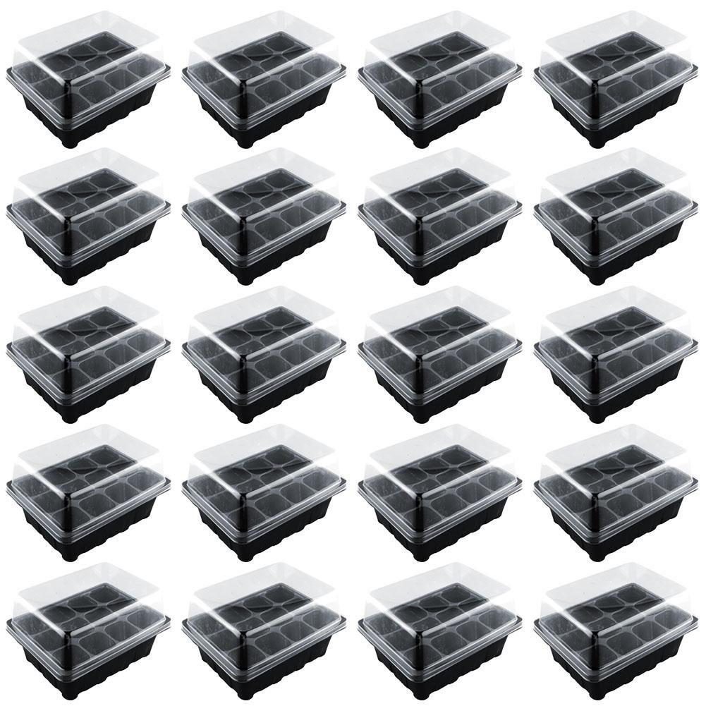 kicode 12cellules Holes Graines de croître Box Plateau vermehrung mer Ding CLONING cas de boîte, 5 Pack