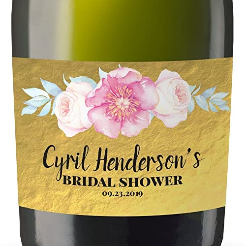 Personalized mini champagne label stickers mini champagne bottle labels for bridal shower bridal