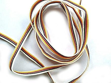 10 metros Cinta de goma plana 5 mm, elástico plano para máscaras, Cuerda Elástica, Bandera española, Blanco, Negro, MADE IN ITALY (ALEMANIA): Amazon.es: Hogar