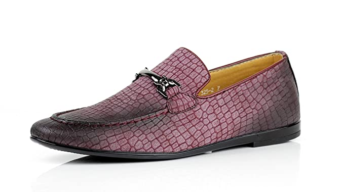 Jas Hombre Modelo Serpiente Elegante Zapatos sin Cierres Italiano Moderno Vestido Formal Mocasines: Amazon.es: Zapatos y complementos