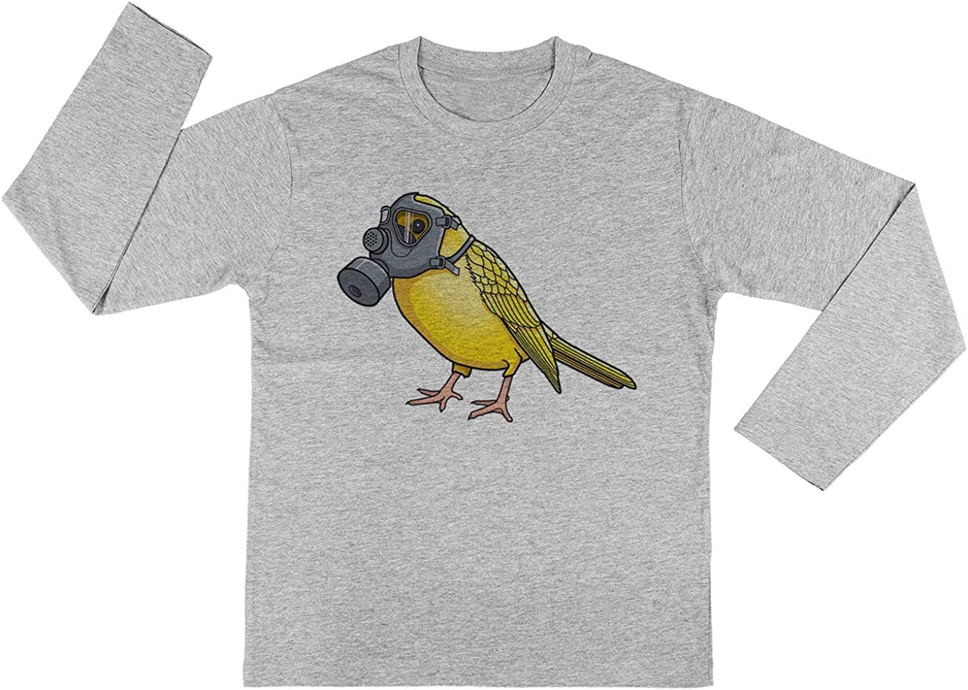 Los Aves Arent Canto Chicos Chicas Unisexo Gris Camiseta Mangas Largas Unisex T-Shirt Kids: Amazon.es: Ropa y accesorios