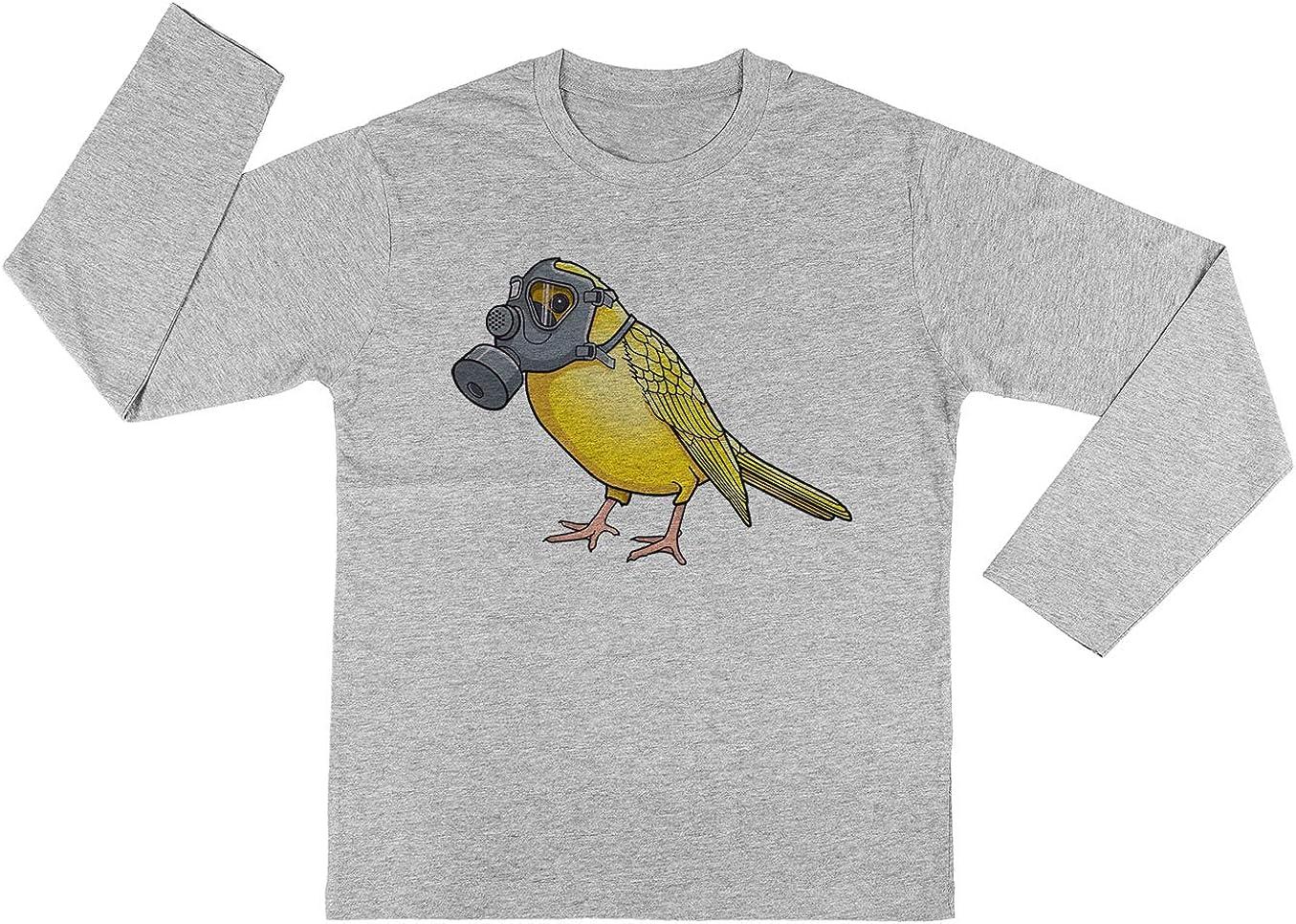 Los Aves Arent Canto Chicos Chicas Unisexo Gris Camiseta Mangas Largas Unisex T-Shirt Kids: Amazon.es: Ropa y accesorios