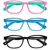 Blue Light Glasses for Kids 3 Pack Anti Glare & Eye Strain Glasses Computer TV Phone Tablets UV Protection Glasses for Kids B